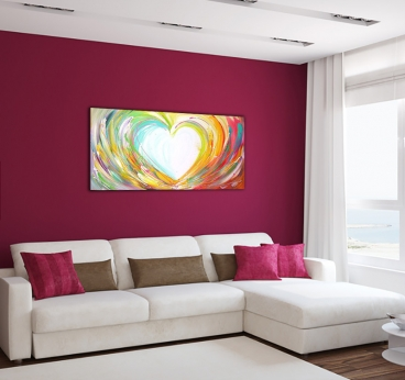 Contemporary Heart Paint Canvas