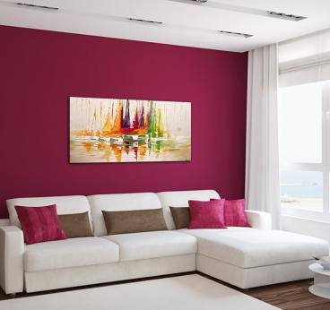 Tableau peinture Déco Voilier de couleur