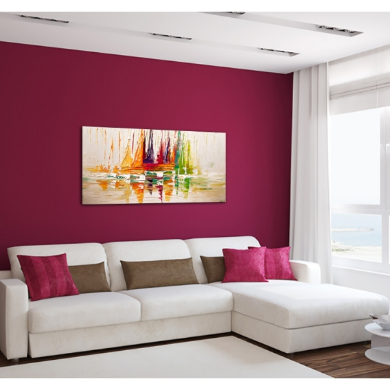 Deco Paint Canvas Coloured Sailing