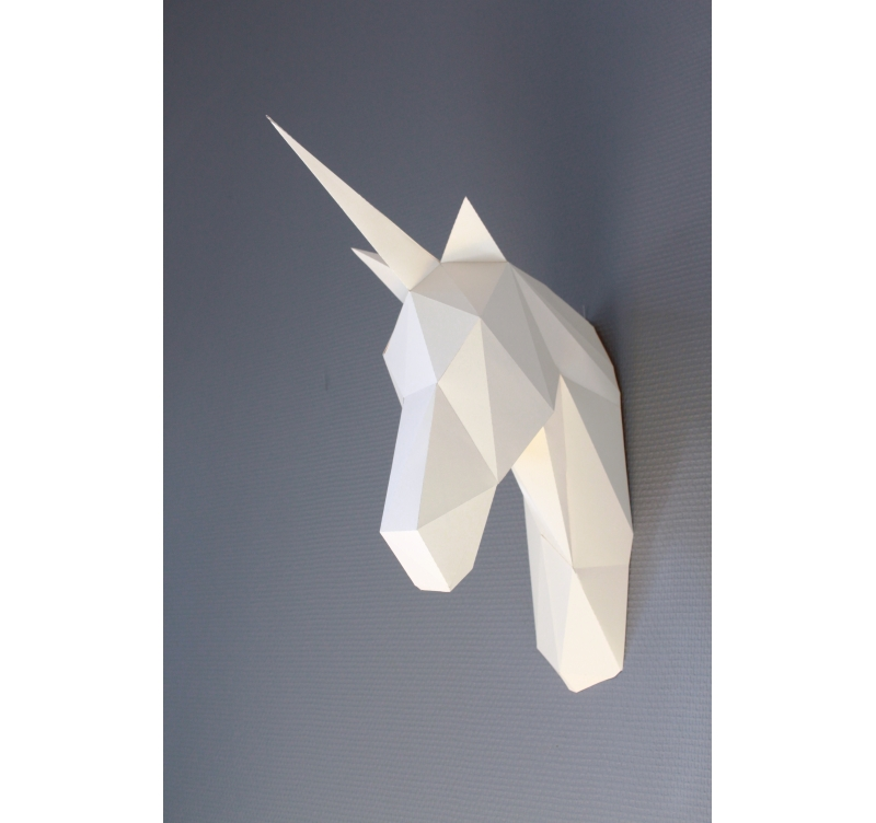 Paper Unicorn Wall Trophy