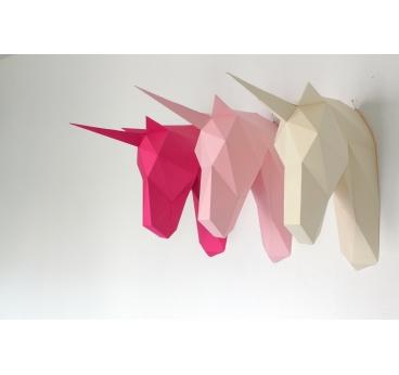 Trophée Mural Licorne Papier