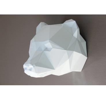 Paper Bear Wall Trophy