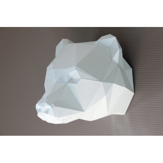 Paper Bear Wall Trophy