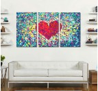Diamond Heart Romantic Art print