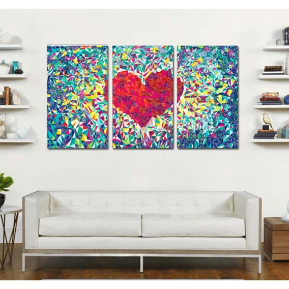 Diamond Heart Romantic Art print