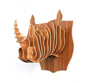 Rhinoceros Animal Trophy Decoration