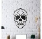 Décoration Murale Métallique skull accrochée