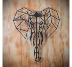 Elephant Metal Wall Decoration
