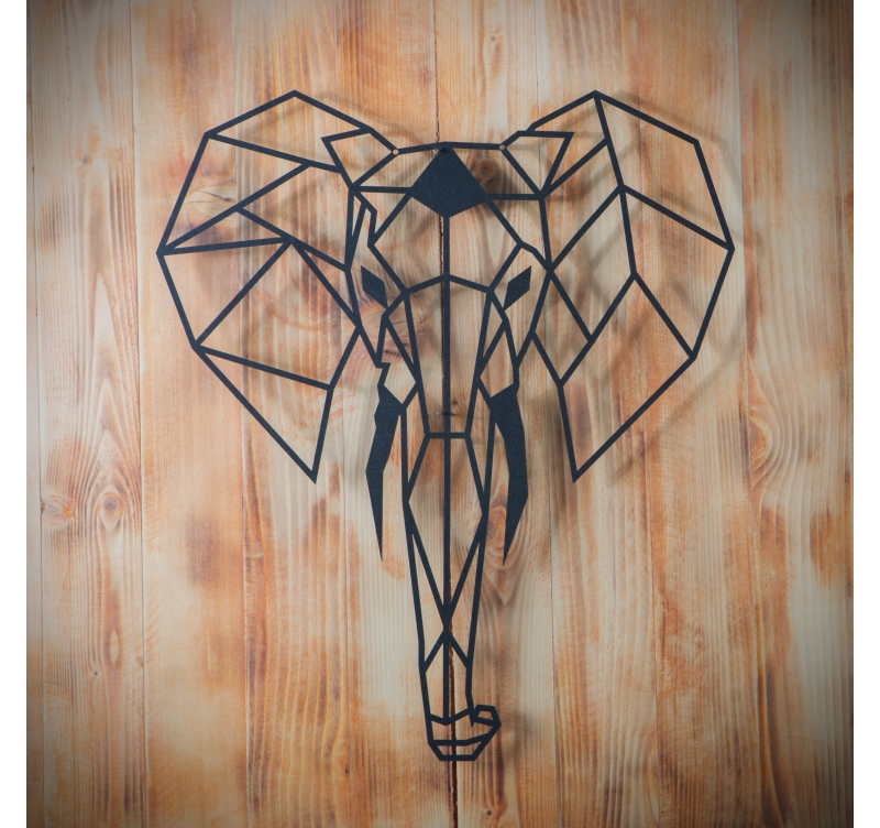 Elephant metal wall decoration artwall and co - Objet decoration murale metal ...