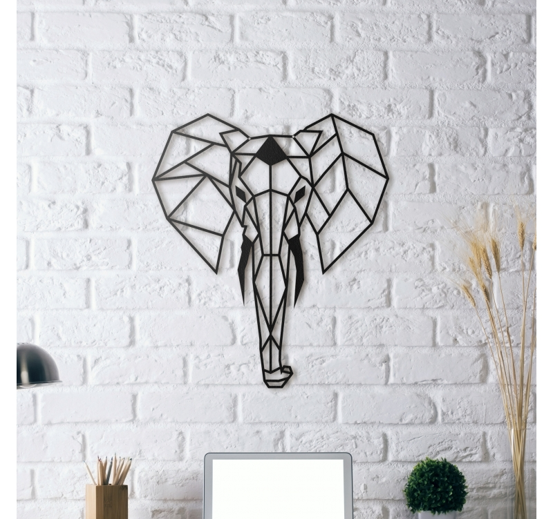 elephant metal wall decoration artwall and co. Black Bedroom Furniture Sets. Home Design Ideas