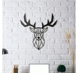 Stag Head Metal Decoration