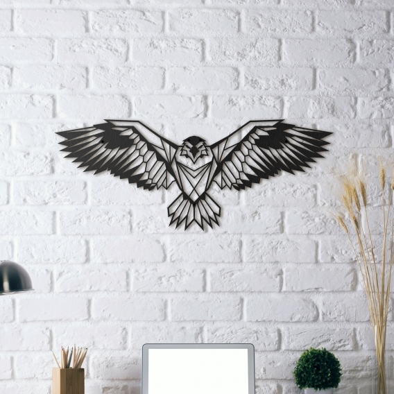 D coration murale m tallique aigle artwall and co for Decoration murale metallique