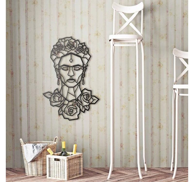d co mur m tal frida kahlo artwall and co. Black Bedroom Furniture Sets. Home Design Ideas