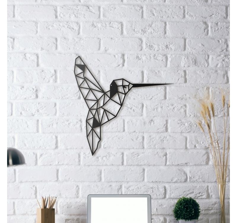 d coration m tallique colibri artwall and co. Black Bedroom Furniture Sets. Home Design Ideas
