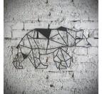 Décoration murale métal ours
