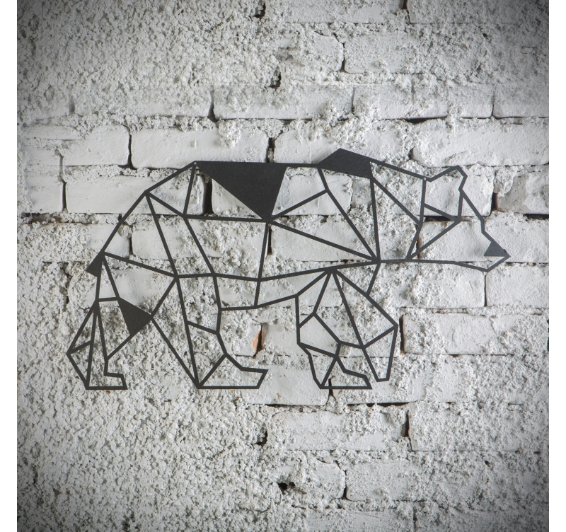 Bear Metal Wall Decoration - ArtWall and Co on