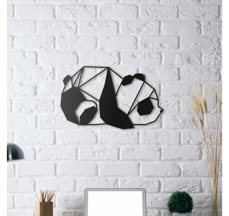 Metal wall decoration panda artwall and co - Decoration murale design metal ...
