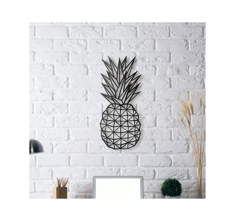Metal decoration pineapple artwall and co for Decoration murale vannerie