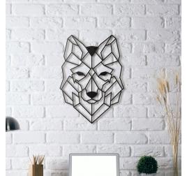 Décoration Mur Métallique Loup