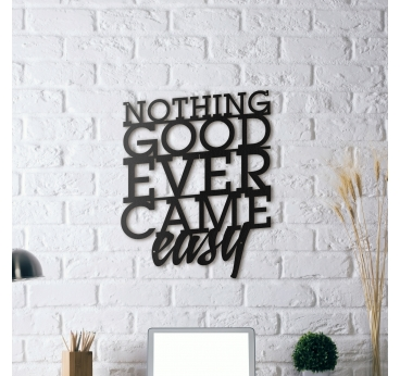 Nothing Good Metal Wall Decoration