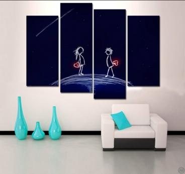 Tableau pour chambre romantique photos de conception de for Tableau pour chambre romantique