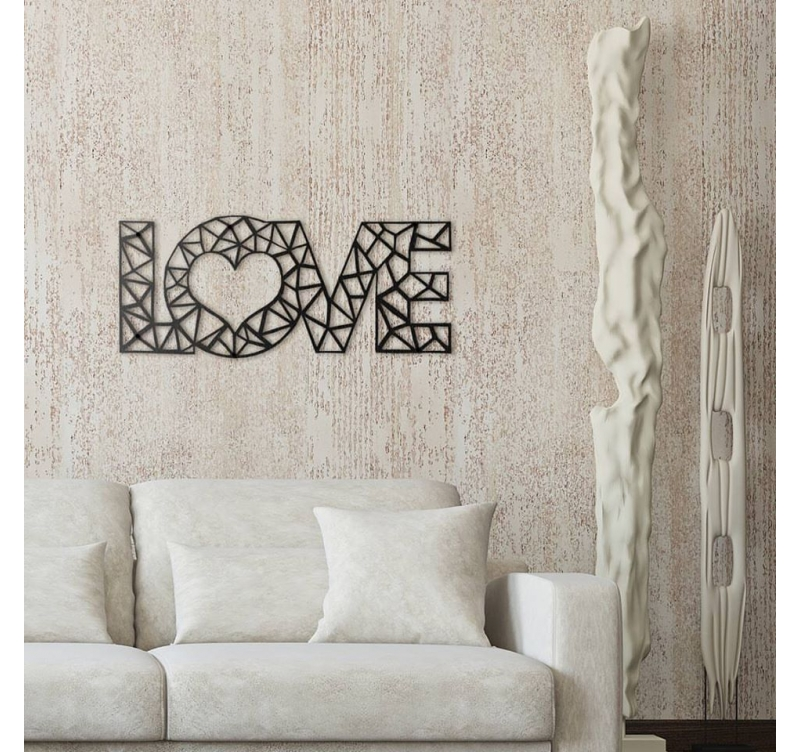 Love Metal Wall Decoration - ArtWall and Co