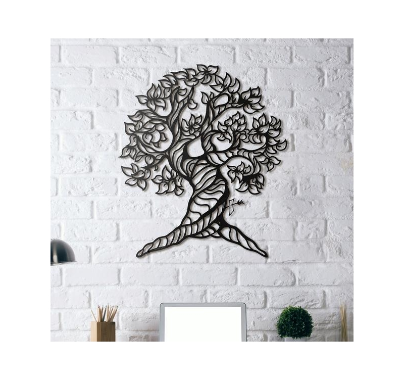 D coration m tal arbre de vie artwall and co for Decoration murale metallique
