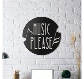 Décoration Mural Métal Music