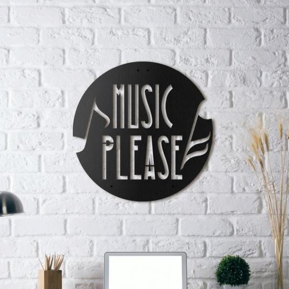 Décoration Murale Métal Musique