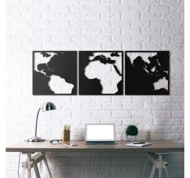 Decoration Métallique Map Monde