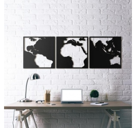 Metal Decoration Black World