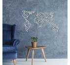 d coration murale m tal carte du monde blanche artwall and co. Black Bedroom Furniture Sets. Home Design Ideas