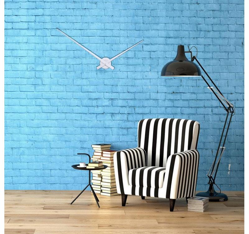 grande horloge murale hands artwall and co. Black Bedroom Furniture Sets. Home Design Ideas