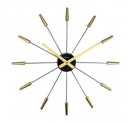 Horloge murale Plug Inn dorée