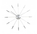 Modern Wall Clock Silver