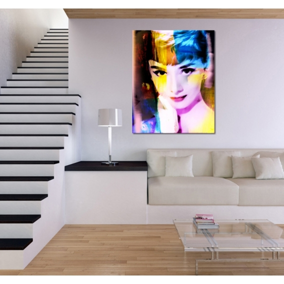 Audrey Hepburn Tableau Pop Art