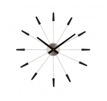 Horloge murale Plug Inn noire