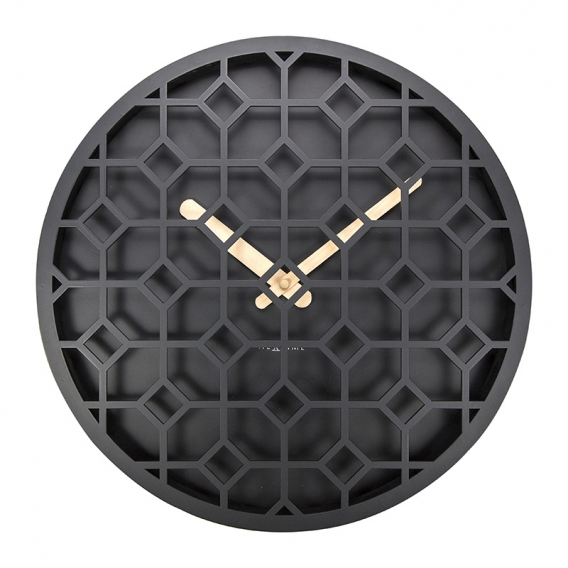 Black Discreet Wall Clock