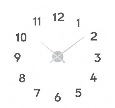 Horloge murale Small Hands argent