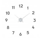 Horloge Murale Numbers Argent