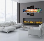 Abstract Color Explosion trendy painting