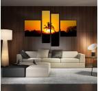 Palm Sun Tableau paysage