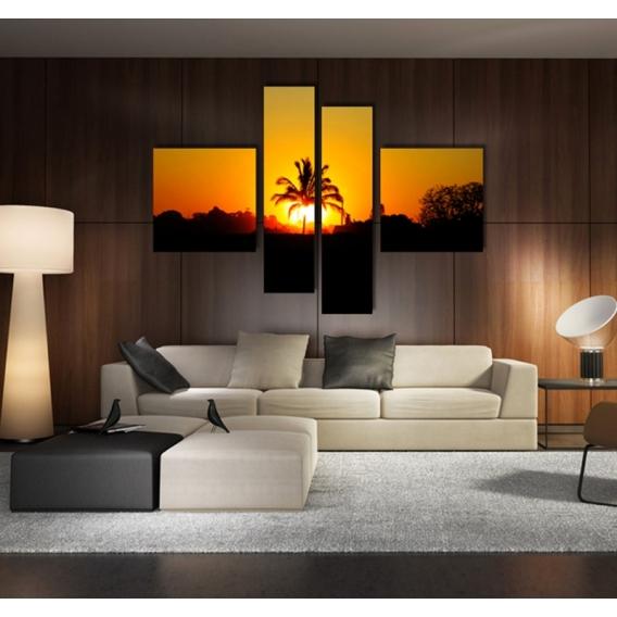 Palm Sun Landscape Art Print