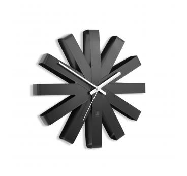 Horloge Murale Ribbon Wall Black