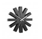 Horloge Murale Ribbon Wall Black