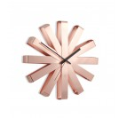 Copper Deco Wall Clock