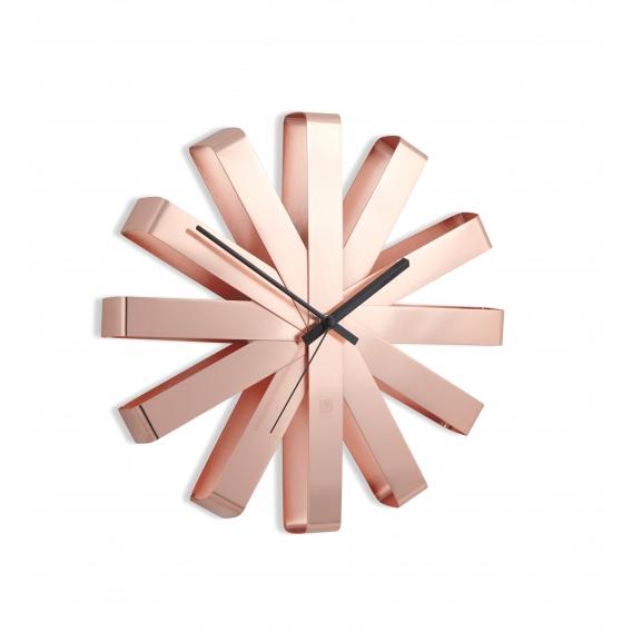 Copper Deco Wall Clock