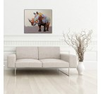 Powerful Rhinoceros Modern Canvas