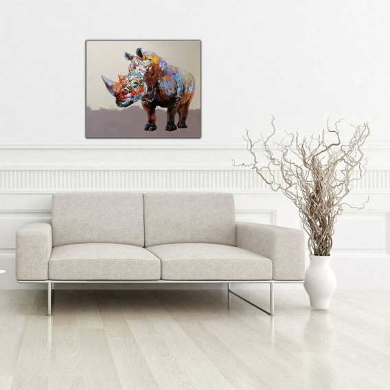 Tableau Moderne Rhinocéros Puissant
