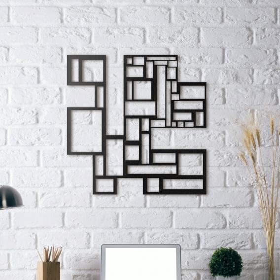 Déco Mur Métal Labyrinthe